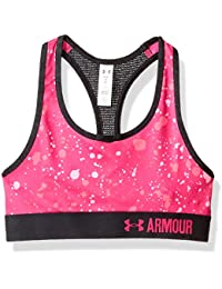 Under Armour – Sujetador de deporte, diseño de niñas, niña, Novelty Armour, Tropic Pink, X-Large