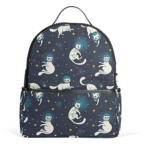 CPYang Schulrucksack Galaxy Planet Animal Cat College