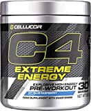 Cellucor C4 Extreme Energy - Pre-Workout-Pulver - Getränkepulver für Energie-Booster - Icy Blue Raspberry - 30 Portionen