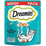 dreamies gato Tratamiento salmón Mega Pack 180g (Paquete de 6)