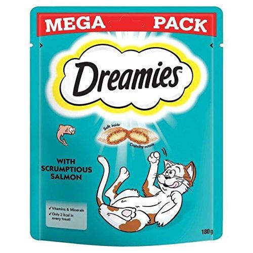 Dreamies Katze Behandelt Lachs Mega Pack 180G (Packung mit 6)