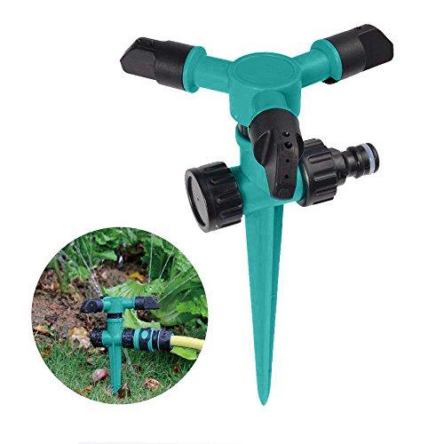 Garten Sprinkler, Automatische Rasen Wasser Sprinkler, 360 Grad 3- Arm Rotierende Sprenger Bewässerung Rasensprenger Kreisregner Sprinkler Garten Rasen Sprüher Rocker Düsen