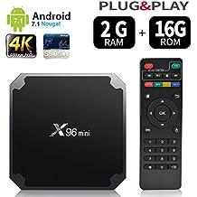 Android 7.1.2 RAM 2 G + 16G Rom TV Box x96 Mini amlogic s905 Quad Core, 4 K Ultra HD h.265, HDMI, Wi-Fi Media Player Smart TV box by puersit