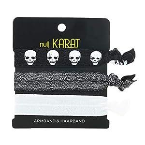 null KARAT by schmuckrausch elastisches Armband Haarband Skull Totenkopf Pirat Festival