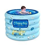 TIANYI Yugang Home-Multifunktions-Isolierung Baby aufblasbare Runde Badewanne Tragbare Badewanne Verdickte aufblasbare unabhängige Tragbare mit Komfortablen Hochwertigen Weich-PVC