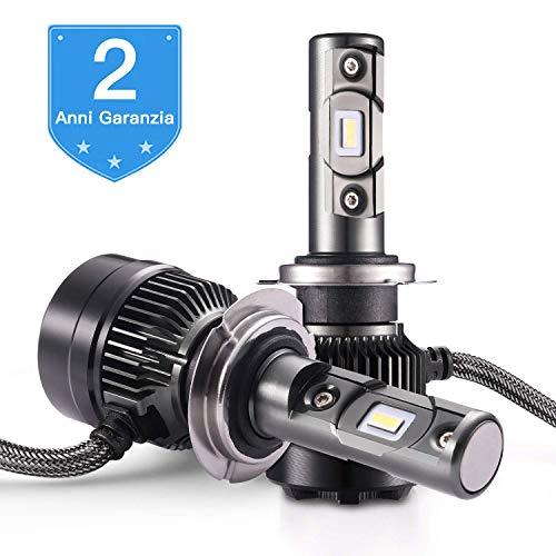 AUTLEAD H7 Lampadine per Auto Fari LED,VERO 70W 7200LM 6500K bianco freddo, chip CSP, Impermeabilità IP67, Kit di Conversione All-in-one E-MARK approvato, 2 Anni Garanzia