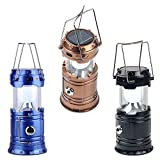 Zebrics LED Solar Emergency Light Bulb (Lantern) - Travel Camping Lantern - Assorted Colours