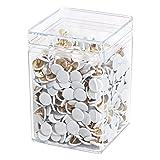 Wedo 9085675000 Reißnägel (Kopfdurchmesser 10 mm, undurchdrückbar überkapselt) 750 Stück, weiß