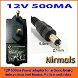 NIRMALS Replacement 12V 500ma Power Adapter FOR Wifi Routers CC tv ,led lights 12v 500ma (12V 500MA)
