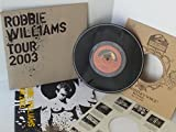 ROBBIE WILLIAMS millennium, replica 78 RPM single, HMV78, Includes 2003 tour programme AND TICKET STUB