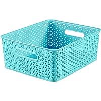 Curver Cesta de plástico 03611-X34-00My Style-35,5x 29,6x 13,3cm, color azul molokai