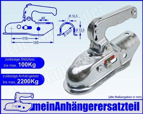 ALBE Berndes Zugkugelkupplung Kugelkupplung Zugrohr 50mm 51mm EM 220 R B 05550 für Pkw Anhänger