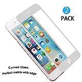 [2 unidades] iPhone 7 Plus Protector de Pantalla, WEOFUN Perfectamente 3D Touch Completa Cristal...