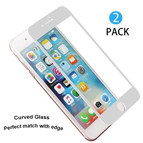 [2 Stück] iPhone 6 / 6s Panzerglas Schutzfolie, WEOFUN Displayschutzfolie Fortgeschritten 3D Vollbild Touch Schutzglas für iPhone 6/ 6s Folie 4.7 zoll, Anti-Kratzen, Anti-Öl, Anti-Bläschen, Anti Fingerprint (0.33mm, PET, - Wwf-test