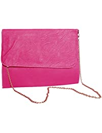 Stylish Pink PU Leather Sling Bag For Women & Girls By Bagris GE01001682
