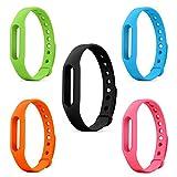 Ersatz-Band für Xiaomi Mi Armband (kein Fitness-Tracker), SET OF 5 COLOURS