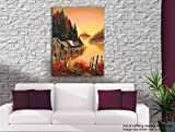 Tamatina Canvas Painting - Dal Lake - Kashmir - Paintings for Living Room - Paintings for Bedroom - Canvas Wall Art - Indian Canvas Paintings