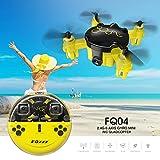 Cewaal Mini drone de poche de FQ04 avec la vidéo en direct d'appareil-photo, 3D bascule le jouet sans tête de quadcopter de mode à télécommande
