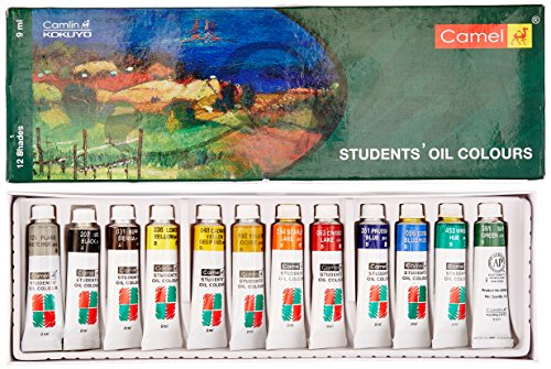 Camel Student Oil Color Box - 9ml Tubes, 12 Shades