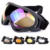Outdoor Winddicht UV 400 Schutz Ski Snowboard Schutzbrillen Komfort Motorrad...