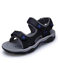 HUAHUA Les Hommes D Été Respirant Sandales Hommes Sandales Velcro Chaussures  De Plage Hommes Occasionnels Homme… 8219f8bb09bf