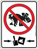 RAHMENLOS Original Blechschild Hinweis-Schild: Kein Hundeklo Haufen-Verbot