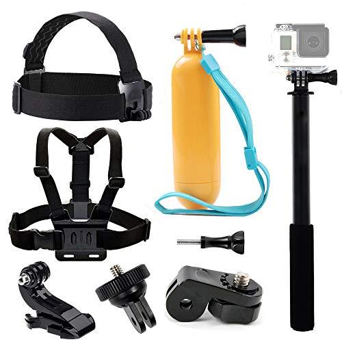 Tek-Zubehörset Brustgeschirr Head Strap Mount Floating Griff Grip Selfie Stick für die Yi 4K Vivitar Akaso ek7000Crosstour 4K Action Kamera Sony Digital kamera