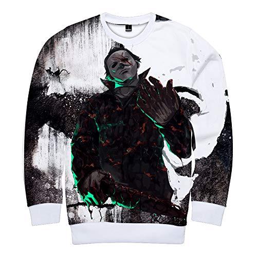 Michael Myers Halloween Pullover Sport Style Elektro-akustischer Stil Langarm-Pullover Sport Student Langarm-Pullover Pullover (Color : A05, Size : L) (Michael Myers Kapuzenpullover)