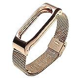 Metall Ersatz Screwless automatische Schnalle Armband Smart Watch Band Armband für Xiaomi Mi Band 2 Rose Gold