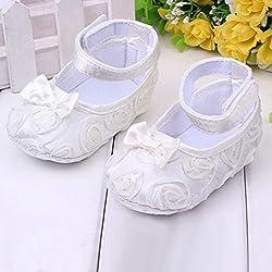 Zapatos para bebé (antideslizantes y cómodos (6–12meses, color blanco)