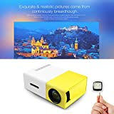 BiabaCollection YG300 LED Portable Projector 400-600LM 3.5mm Audio 320 X 240 Pixels YG-300 HDMI USB Mini Projector Home Media Player With Selfie Flash