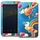 Samsung Galaxy Tab 3 7.0 7.0 Autocollant Protection Film Design Sticker Skin C½ur Amour Arc-en-ciel couleur