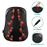 Naipo Shiatsu Back Massage Chair Deep Kneading Massage Cushion with S Track Heater