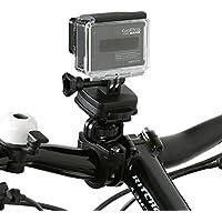 Wicked Chili Fahrrad / Motorrad Halterung für GoPro Hero 6 / 5 / 4 / 3, Activeon, A-Rival, DBPOWER, Garmin, QUMOX, Rollei, TomTom Action / Sport Cam (QuickFix, Kugelgelenk, Made in Germany)