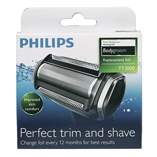 Philips Electronics TT2000/43 ORIGINAL Scherkopf Scherfolie mit Kammaufsatz 3mm für Bodygroom series 3000 5000 7000 Multigroom Haarschneider Trimmer Körperrasierer Rasierer