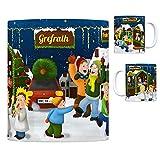 Diese Tasse richtet sich an alle, die aus Grefrath, Niederrhein kommen und gerne auf den Weihnachtsmarkt gehen. Der Kaffeebecher ist ein schönes Geschenk, welches über das ganze Jahr an die frohe und besinnliche Weihnachtszeit erinnert. Zwischen Glüh...