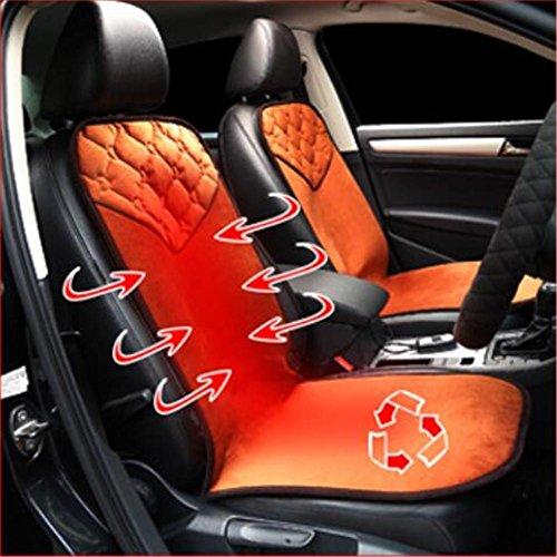 GEARS PANDA Autos Heizung Pad Car Electric Kissen Far Infrarot Carbon Fiber Winter Kissen 30 Sekunden schnelle Hitze kann Weihnachten Gift waschen (Zigarettenanzünder Carbon Fiber)