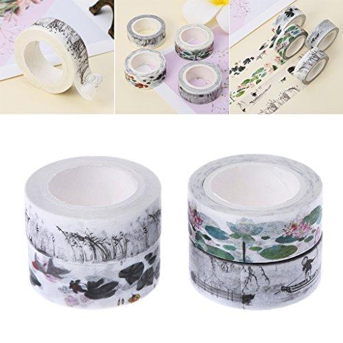 rn Dekoratives Washi Tape DIY Vintage Retro Chinese Style Masking Adhesive Washi Tape Dekorative Student ()
