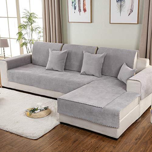 HUANZI Sofabezug Sesselbezug Sofa Cover FüR Sofa Wasserdicht Grau Universal Vier Jahreszeiten...
