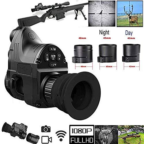 Changli Range 200m 1080P HD Digitalkamera Wasserdicht Antifogging Jagd Nachtsichtgerät WiFi Optisches IR Infrarot 4x-14x Zoom Zielfernrohr Monokular Pard NV007 mit 45mm Adapter & Andiord/iOS APP