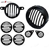 #9: Allextreme Heavy Weight Metal Headlight Grill Complete , Die Casted To Ensure Ultra Finishing, Set Of 8 Pieces- Royal Enfield Classic 350/ 500