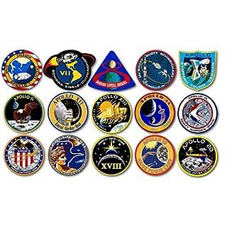 American Vinyl Blatt von 1,5 Zoll groß Alle Apollo-Mission Logos-Aufkleber