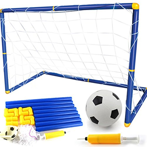 Queta 60cm Kinder Fußball Torpfosten Netz mit Ball Pumpe Indoor Outdoor Fußball Sportspiele