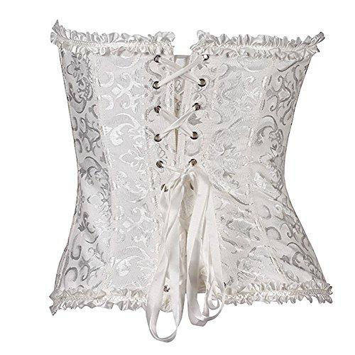 Missyhot Frauen Sexy Elastisch Training Damenunterwäsche Hüfthalter Shapewear Schwarz Weiß Weiß