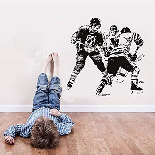 Zxfcczxf 59 * 59 Cm Eine Gruppe Eishockeyspieler Im Spiel Wandaufkleber Transfers Home Decor Vinyl Abnehmbare Sport Wand Decels Wandbild