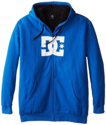DC Herren Sweatshirt Star Sherpa Zip - Blau - X-Groß Dc Zip-hoody