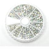 Pedrería accesorio para pegar de vidrio (1recinto de 550piezas de color, multicolor)