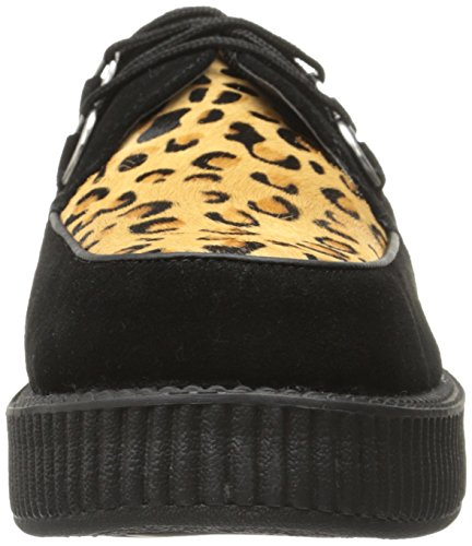 T.U.K. Low Sole Round Creeper, Baskets Mode Mixte Adulte Noir (Black Leopard)