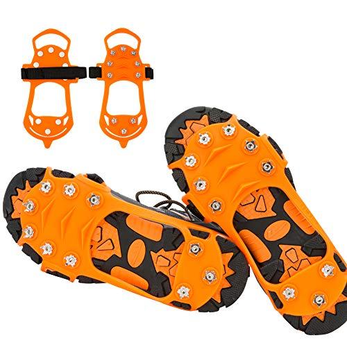 JTENG Steigeisen Schuhspikes Silikon Edelstahlnagel Ice Klampe Schuhkralle,Schuhkrallen mit Anti Rutsch Eisspikes für High Altitude Wandern EIS Schnee für Wandern Bergschuhe Stiefel usw.