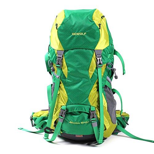 borse alpinismo esterno/zaino/Uomini e donne viaggiano zaino outdoor/Escursionismo zaino da montagna Camping-arancia 50L verde